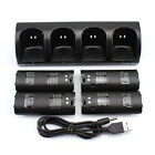 4 Rechargeable Battery + Charger Charging Dock Station For Wii Remote Controller
