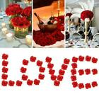 50pcs Handmade Artificial Rose Flowers Wedding Bouquets Day Valentine's F5v6