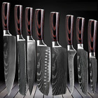 Kitchen Chef Knives Set Japanese Damascus Pattern Stainless Steel Cutting Knife