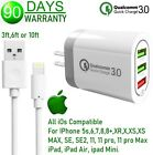 18W 3-USB Fast Wall Charger Qualcomm QC 3.0 Cube for iPhone 8,X,XR,XS,XS MAX,11