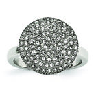 Chisel Stainless Steel Polished w/ Preciosa Crystal Circle Ring SR591 image