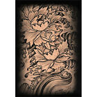 Botan by Clark North Japanese Floral Tattoo Fine Art Print Poster for Framing
