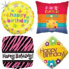 "Happy Birthday 18"" Girl Mom Floral Butterfly Foil Mylar Birthday Party Balloons"