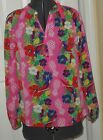 *MACBETH COLLECTION MARGARET JOSEPH BLOUSE SIZE XS PINK FLORAL SILKY FEEL  NWT