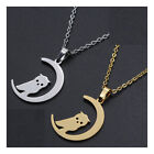 """Stainless Steel Pendant Necklace Lobster Halloween Owl Moon 17.71"""" 1.5mm P92"""