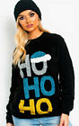 IKRUSH Womens Prancer Slogan Christmas Jumper Black