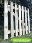 🥇3ftx3/4/5/6ft  Wooden Picket Garden Gate Handmade Treated Timber Fencing