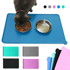 Dog Pets Cat Food Bowl Placemat Waterproof Leakproof Silicone Rubber Feeder Mats