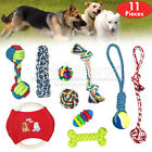 COTTON ROPE TOYS DOG PET DOG PLAYING ROPE CHEWING TOY UK STOCK SETS 10 PIECES