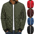 Kyпить Men Quilted Padded Puffer Jacket Casual Zip Up Winter Warm Coat Bomber Outwear на еВаy.соm