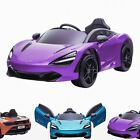 Kids Licensed 12V McLaren 720S Electric Battery Ride On Car with Leather Seat