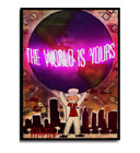 Alec  Monopoly The world is yours HD Canvas Print Paintings Wall Art Pictures.