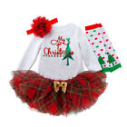 Infant Baby Girls Christmas Romper Dress Outfits Costume Xmas Skirt Set Clothes