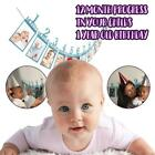 12 Cards Baby Picture Photo Frame Birth Gift 1-12 Months Bunting Banners Decor