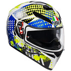 AGV K3-SV Pop White/Blue/Lime Motorcycle Motorbike Helmet