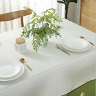 Solid Table Cover Rectangular Cotton Linen Tablecloth Dinging Table Decorations