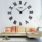 DIY Large Wall Clock Roman Numbers Living Room Clock for Home Office Decor