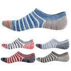 Fashion 5Pc Men Stripes Cotton Breathable Anti Slip Low Cut Invisible Boat Socks