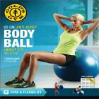 Gold's Gym 65cm Anti-Burst Exercise Body Ball Blue Green Yoga Fitness Home Fit