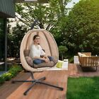 Mcombo Hanging Egg Swing Chair With Stand, Steel Frame   Hammock Chair, 4069