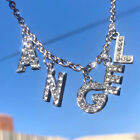 Letter Crystal Angel Necklace Women Jewelry Couple Gift Necklace Choker
