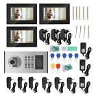 "Wired 7"" Color Video Door Phone WIFI Doorbell Intercom Security System+3 Monitor"