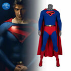 MLYX Superman Cosplay Costume Kingdom Come Blue Outfit Jumpsuit Cloak Halloween
