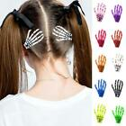 Halloween Party Zombie Skull Skeleton Hand Bone Claw Hairpin Punk Hair Clip 1pcs