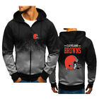 New Hot! CLEVELAND BROWNS  motorcycle Hoodie Full Sweatshirts Coat @ $28.99 USD on eBay