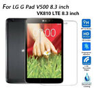 "2PCS LG G Pad 8.3 inch V500 VK810 LTE 8.3"" Tempered Glass Film Screen Protector"