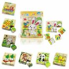 Cartoon 3D Puzzle Block Heavy Colorful Educational Wooden Kids Children Toy XMAS