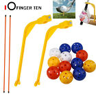 Golf Alignment Stick Clubs Training Set with 12 Balls Trainer Portable Practice