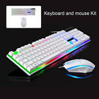 Gaming Keyboard Mouse Set Rainbow Led Wired Usb For Pc Laptop Ps4 Xbox One 360uk