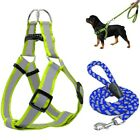 Step-in Dog Harness Walking Leash No Pulling Reflective Nylon Dog Vest Leads H8Y