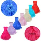 US Girls Embroidered Flower Dress Kid Formal Party Gown Princess Bridesmaid Maxi