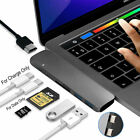 6/7in1 USB-C Hub Dual Adapter Multiport Reader 4K HDMI Type-C For MacBook Pro UK