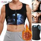 Men's Sauna Suit Sweat Vest Waist Trainer Body Shaper Tank Top Compression Shirt