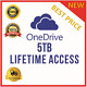 Lifetime One Drive 5TB Account - Best Price