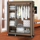 67'' Canvas Bedroom Wardrobe Clothes Storage Pop Up Closet Shelving Unit Shoes