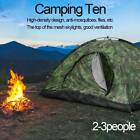 Camouflage Camping Tent 2-3 Person Instant Pop-Up Oxford Cloth Family Hiking