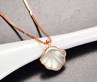 Rose Gold Shell Pendant 925 Sterling Silver Chain Necklace Womens Jewellery Gift