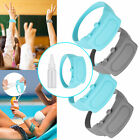 1/3x Portable Rubber Soap Bracelet Wristband Hand Dispenser Band Squeeze Bottles