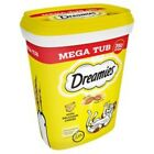 Dreamies Cat Treats Mega Tub 350g Cheese or Chicken Flavours