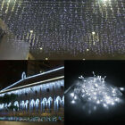 13-130FT LED Icicle Curtain String Light Xmas Tree Home Curtain Decor Waterproof