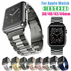 Stainless Steel Apple Watch Band Iwatch Series Se 6 5 4 3 2 38 42 40 44mm Strap