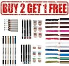 MENOW Kohl Eyeliner Pencil Black Blue Brown Green Grey Gold Bronze Red White