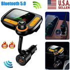 Bluetooth Wireless In Car MP3 FM Transmitter Car Radio Adapter 2 USB Charger USA