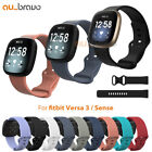 For Fitbit Versa 3 /sense Watch Strap Replacement Silicone Sports Wrist Band