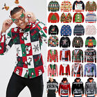 Christmas Xmas Men Tops Funny Ugly Hoodies Sweatshirt Jumper Sweater T-shirt Top
