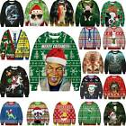 HOT Ugly Christmas Sweater Funny Ugly Women Men Xmas Pullover Sweatshirt Top #